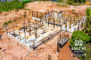June 2021 Construction Update of Anichi Resort & Spa: Aerial View of Block A