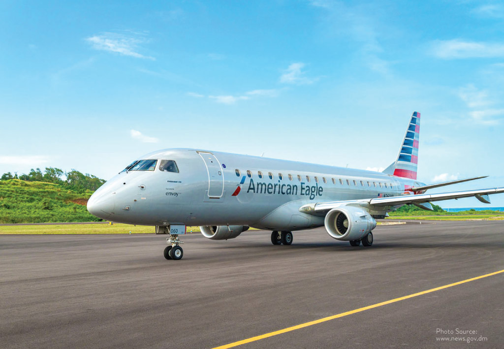 The first American Airlines Jet flight on Tuesday June 22, 2021
