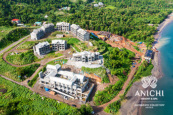 July 2021 Construction Update of Anichi Resort & Spa: Aerial View of the Construction Site