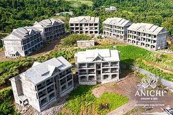 July 2021 Construction Update of Anichi Resort & Spa: Buildings 1 and 2