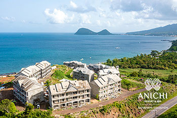 July 2021 Construction Update of Anichi Resort & Spa: North View of the Construction Site