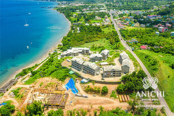 August 2021 Construction Update of Anichi Resort & Spa: Aerial View of the Construction Site