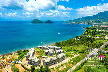 August 2021 Construction Update of Anichi Resort & Spa: Aerial View of the Caribbean Sea