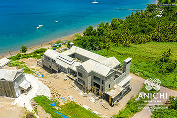 August 2021 Construction Update of Anichi Resort & Spa: Aerial View of the Building D