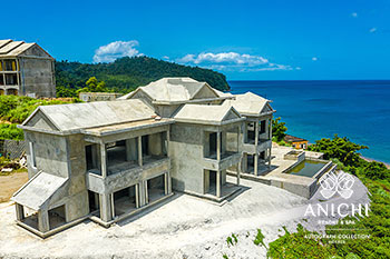 August 2021 Construction Update of Anichi Resort & Spa: Building 3 and the Caribbean Sea