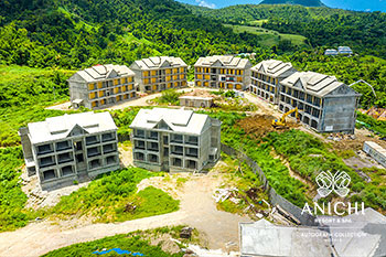 August 2021 Construction Update of Anichi Resort & Spa: Buildings 1 and 2