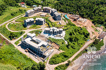 September 2021 Construction Update of Anichi Resort & Spa: Aerial View of the Construction Site