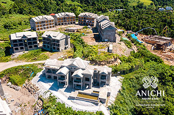 September 2021 Construction Update of Anichi Resort & Spa: Aerial View of the Building D