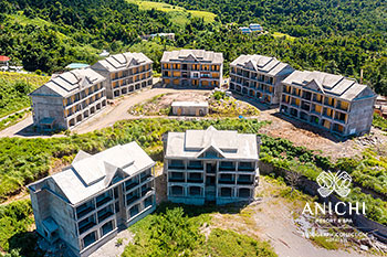 September 2021 Construction Update of Anichi Resort & Spa: Aerial View of the Seven Buildings