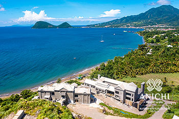September 2021 Construction Update of Anichi Resort & Spa: Aerial View of the Picard Beach in Dominica