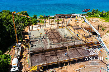 September 2021 Construction Update of Anichi Resort & Spa: Block A with the Caribbean Sea View