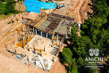 September 2021 Construction Update of Anichi Resort & Spa: Aerial View of Block A