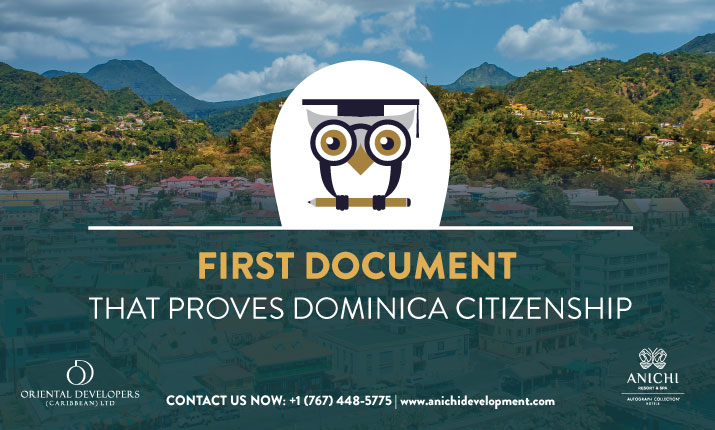 First Document that Proves Dominica Citizenship